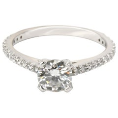 GIA Certified Diamond Engagement Ring in Platinum