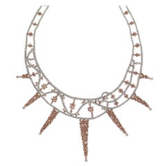 GIA Certified Diamond Freeform Cluster Necklace