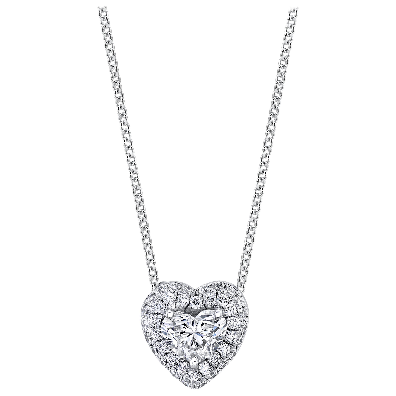 GIA Certified Diamond Heart Shape Pendant Set in 18kwg