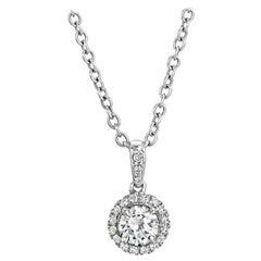 GIA Certified Diamond Micro-Pave Pendant Set in Platinum