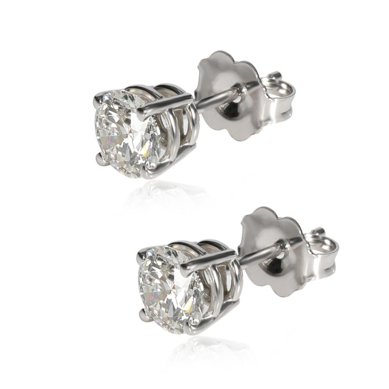 GIA Certified Diamond Stud Earring in 14K White Gold G-H VVS1VVS2 1.13 CTW  PRIMARY DETAILS SKU: 099744 Listing Title: GIA Certified Diamond Stud Earring in 14K White Gold G-H VVS1VVS2 1.13 CTW Condition Description: In excellent condition and