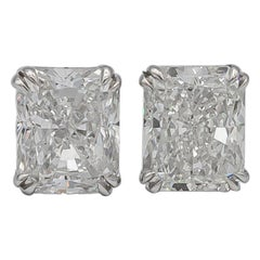 GIA Certified Diamond Stud Earrings 1 Carat Each