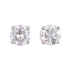 GIA Certified Diamond Stud Earrings 1.01 Carat Total
