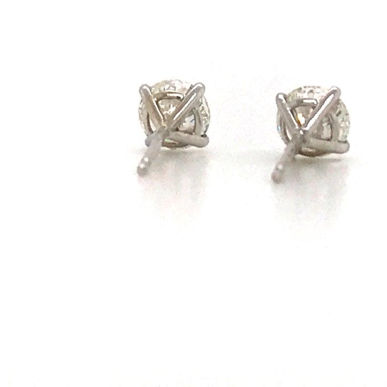 GIA Certified Diamond Stud Earrings 1.40 Carat E SI1-SI2 For Sale 1