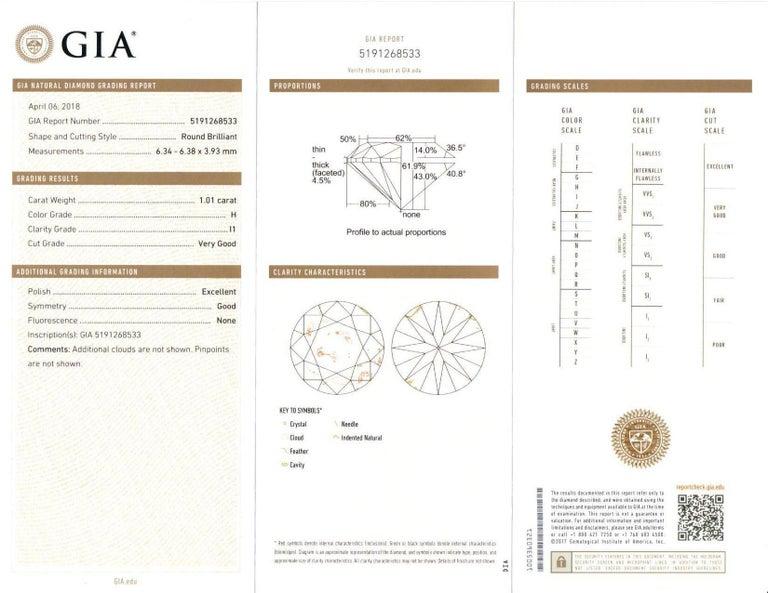 GIA Certified Diamond Stud Earrings 2.02 Carats 18 Karat White Gold For Sale 3
