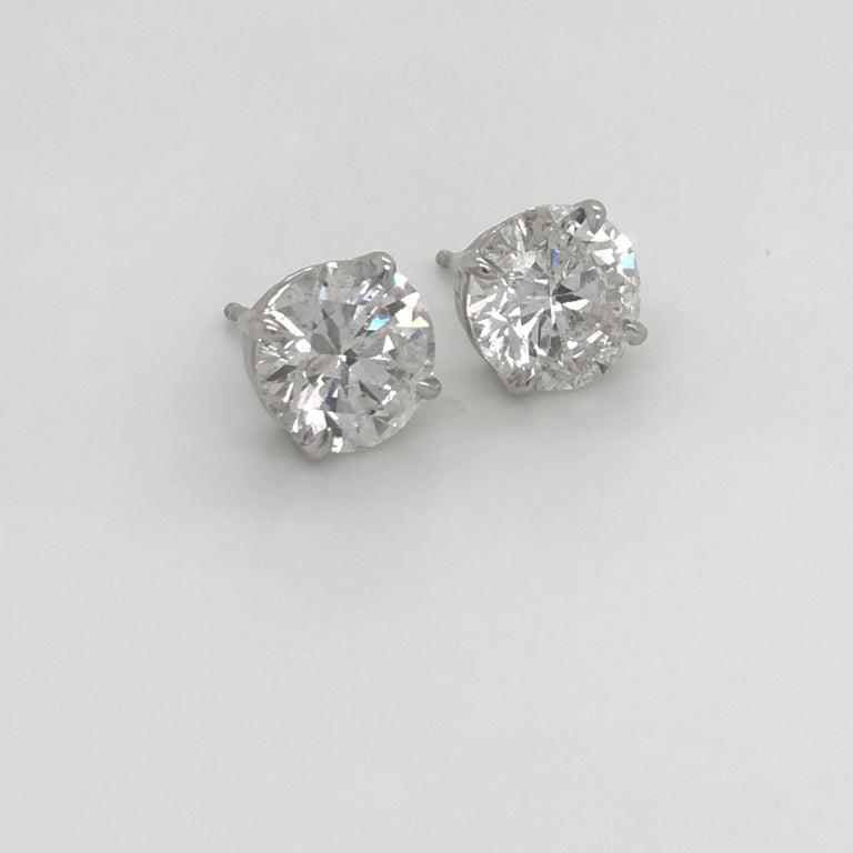 GIA Certified Diamond Stud Earrings 4.71 Carat E-F 1