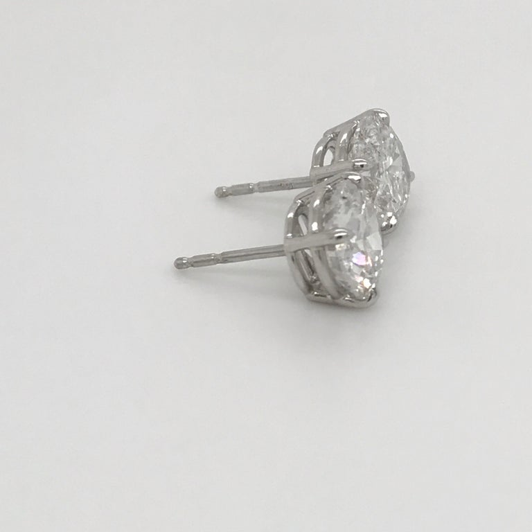 GIA Certified Diamond Stud Earrings 4.71 Carat E-F 2