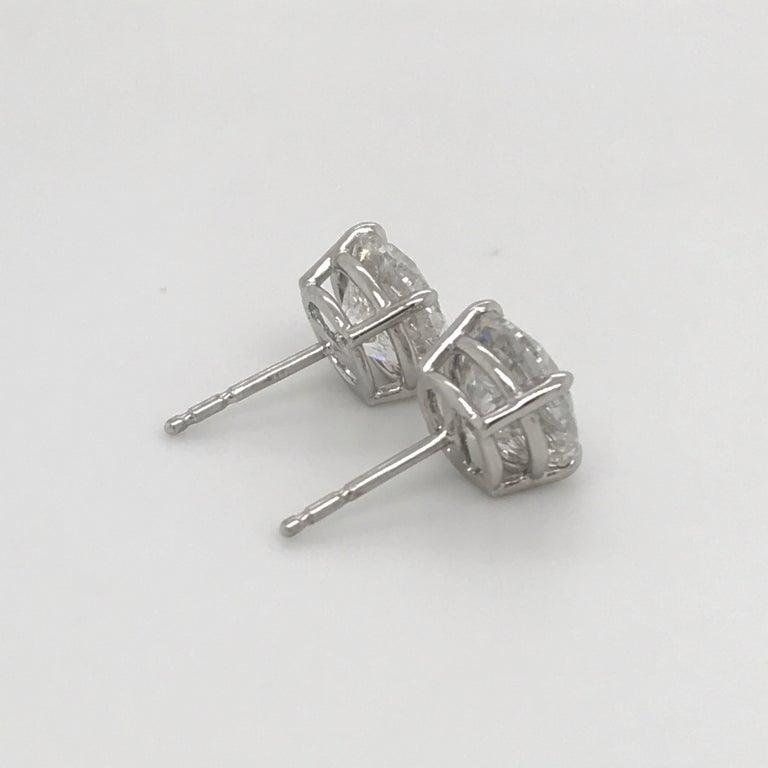 GIA Certified Diamond Stud Earrings 4.71 Carat E-F 3