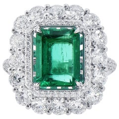 Laviere GIA Certified Emerald and Diamond Ring