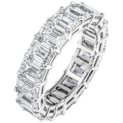 GIA Certified Emerald Cut Anniversary Band in Platinum 9.33 Carat