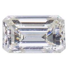 Stunning Emerald Cut DIAMOND Stone 4.08 Carat, GIA Certified Report