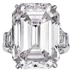 Exceptional HRD Antwerp 6 Carat Emerald Cut Diamond H Color VS1 Clarity