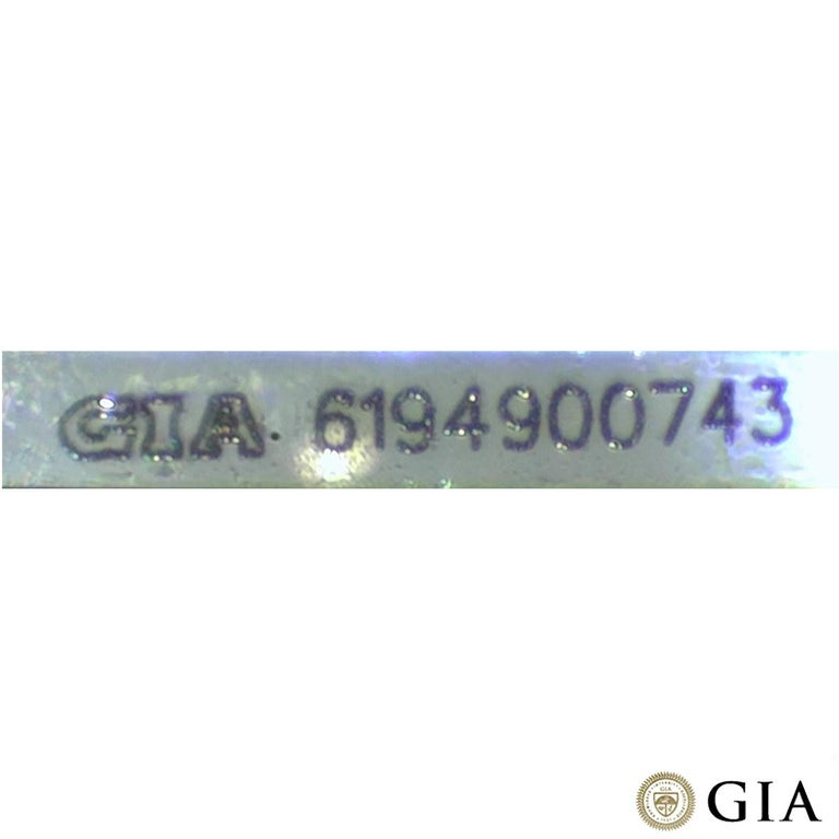 GIA Certified Emerald Cut Three-Stone Diamond Ring 3.62 Carat G/VVS2 For Sale 3