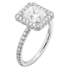 GIA Certified Engagement Ring with Radiant Cut 2.02 Carat