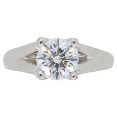 GIA Certified Excellent Cut Diamond Set in Platinum