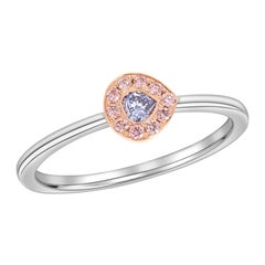 GIA Certified Fancy Gray Blue and Argyle Pink Diamond Stackable Ring