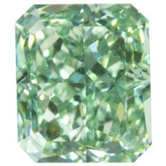 GIA Certified Fancy Intense Green Radiant Diamond
