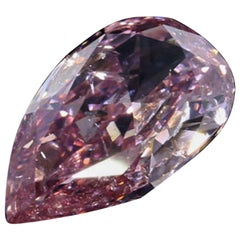 GIA Certified Fancy Intense Pink Pear Modified Brilliant Cut Diamond