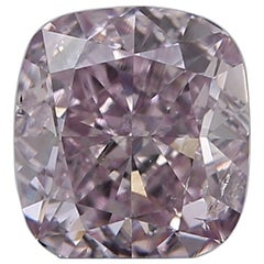 GIA Certified Fancy Purple Pink Cushion Cut Diamond