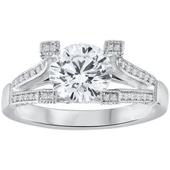 Roman Malakov, GIA Certified Floating Round Diamond Engagement Ring