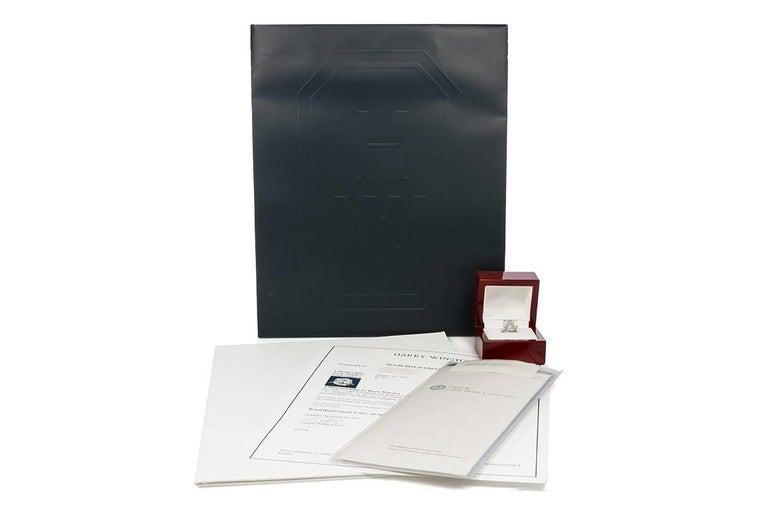 Harry Winston GIA Certified Cushion Cut 10.67 carat F/VS2 Diamond Ring  For Sale 6