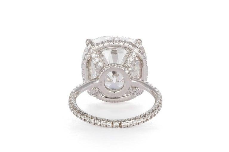 Women's Harry Winston GIA Certified Cushion Cut 10.67 carat F/VS2 Diamond Ring  For Sale