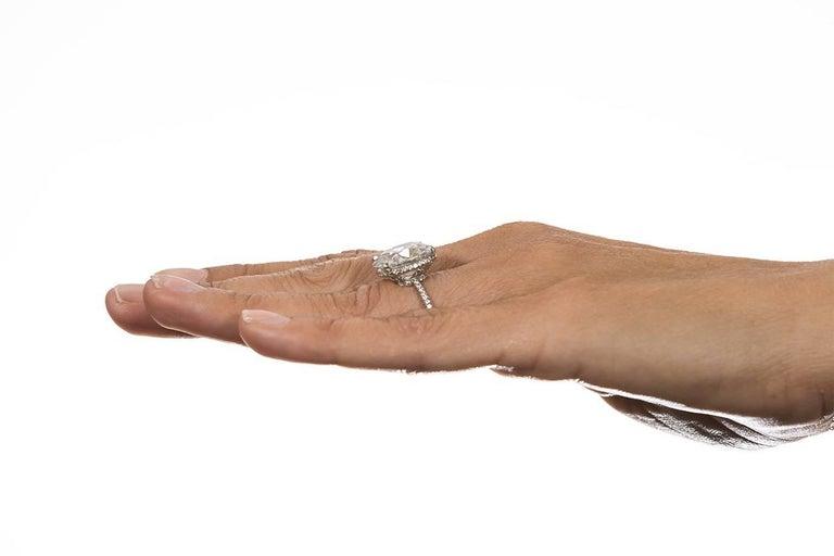Harry Winston GIA Certified Cushion Cut 10.67 carat F/VS2 Diamond Ring  For Sale 2