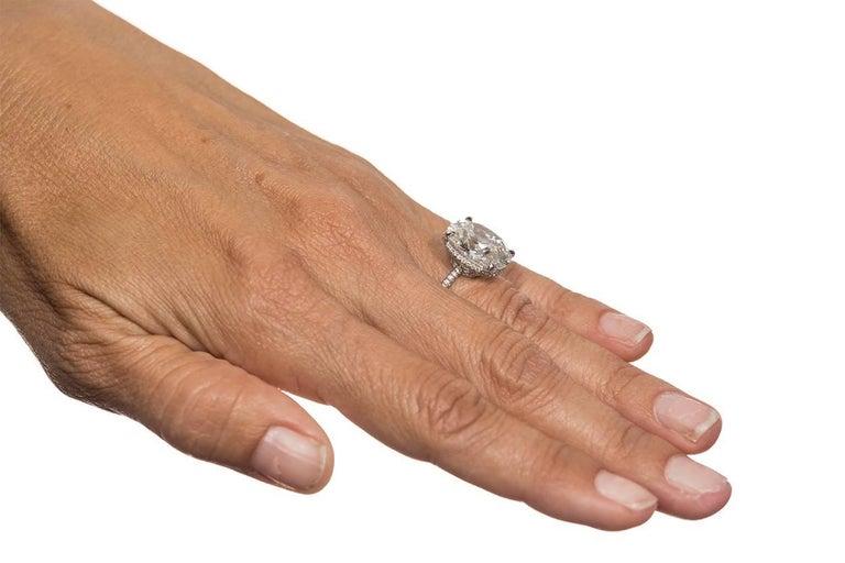 Harry Winston GIA Certified Cushion Cut 10.67 carat F/VS2 Diamond Ring  For Sale 3