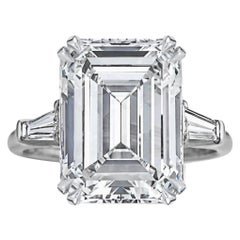 GIA Certified Important 4 Carat Emerald Cut Ring
