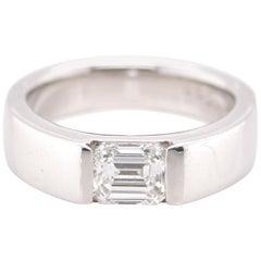 GIA Certified Internally Flawless, 1.03 Carat, Emerald Cut Diamond Ring