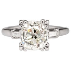 GIA Certified J SI1 Old Cut Diamond Engagement Ring