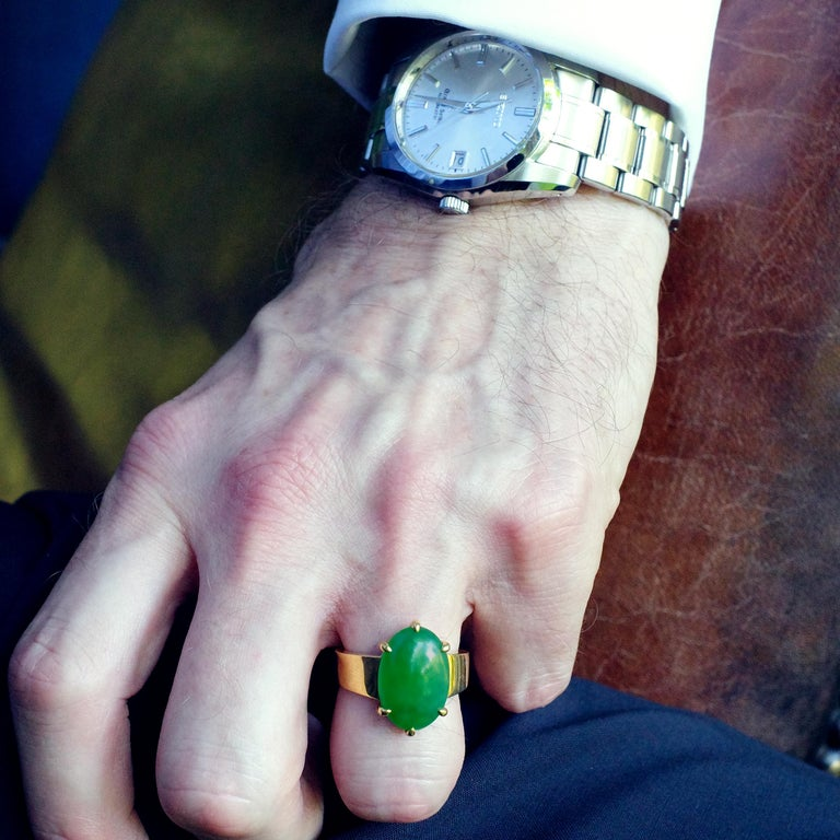 Jade Ring as Featured in the New York Times and Town & Country Magazine For Sale 8