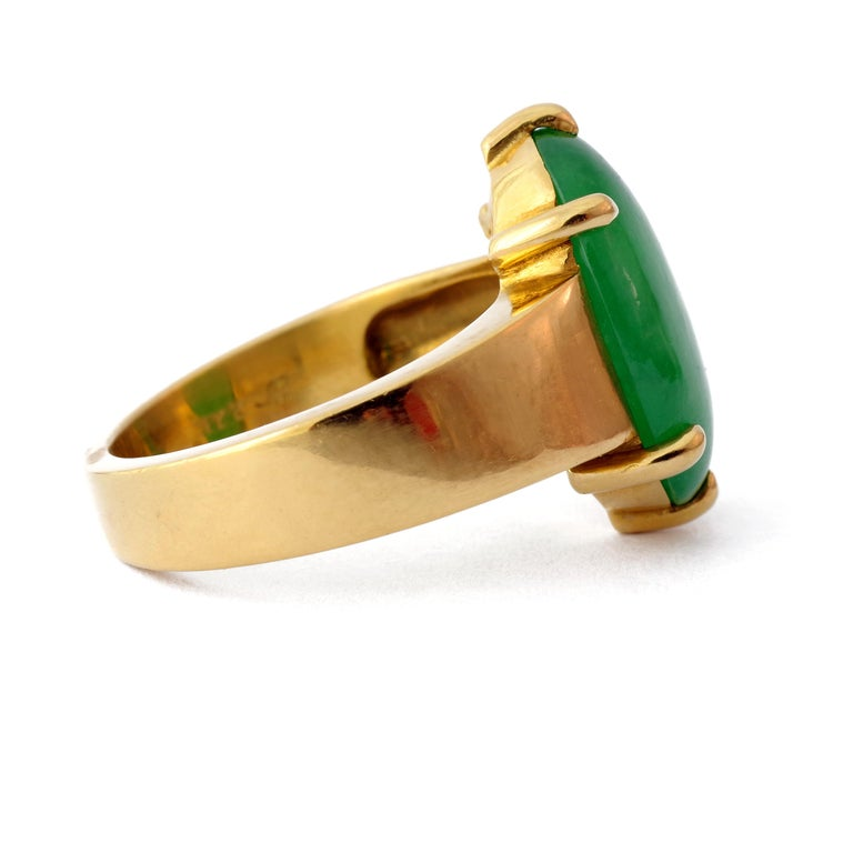 Women's or Men's GIA Certified Jade Ring with