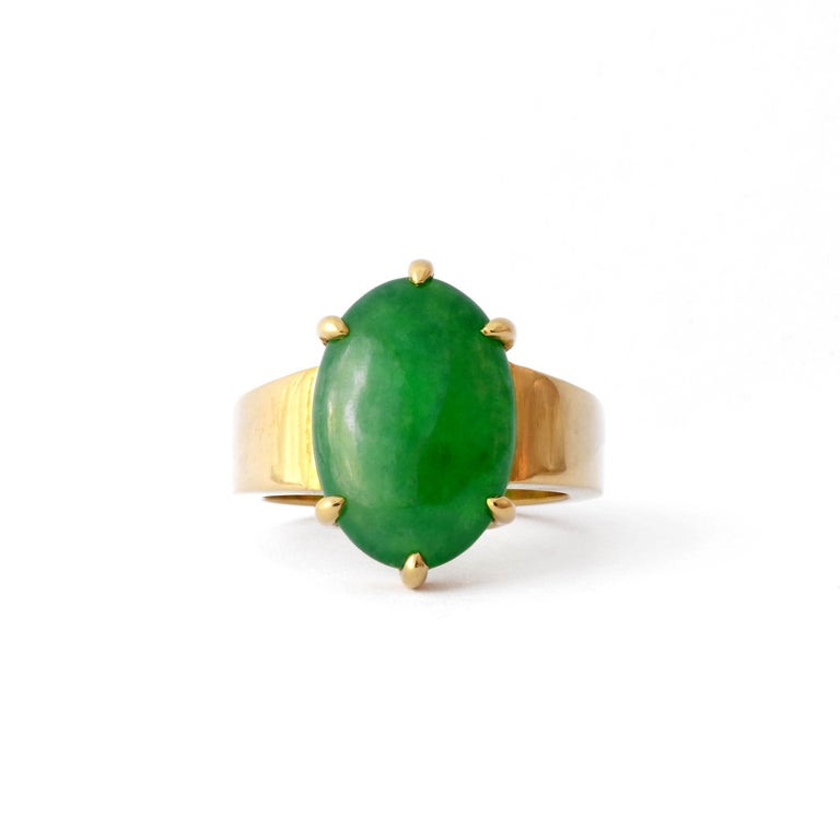 GIA Certified Jade Ring with