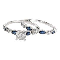 GIA Certified James Allen Asscher Diamond Set in Platinum E VVS1 1 Carat