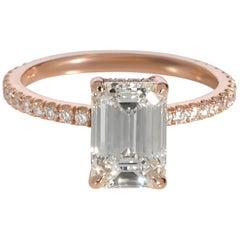 GIA Certified Mark Broumand Diamond Ring 18 Karat Rose Gold J VS1 1.81 Carat