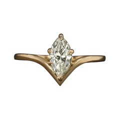 GIA Certified Marquise Diamond Ring