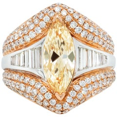 GIA Certified Marquise Shaped Diamond Ring