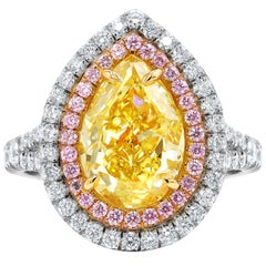GIA Certified Multi and Fancy Color Diamond Ring