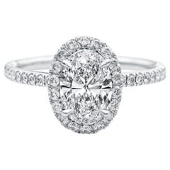 GIA Certified Natkina Customizable Engagement Ring Oval Diamond Cut
