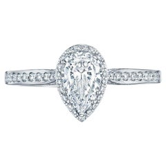 GIA Certified Natkina Engagement Ring Pear Diamond Cut