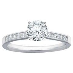 GIA Certified Natkina Engagement Ring Round Diamond Natkina Engagement