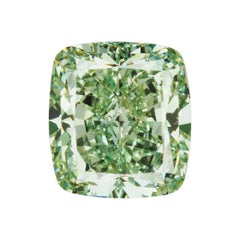 GIA Certified Natural Fancy Intense Green 3.09 Carat SI1 Cushion Cut Diamond