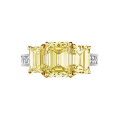 GIA Certified Natural Fancy Intense Yellow Diamond Ring by Siegelson, NY