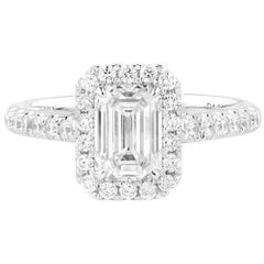 GIA Certified Natural Untreated White Diamond Engagement Wedding Ring