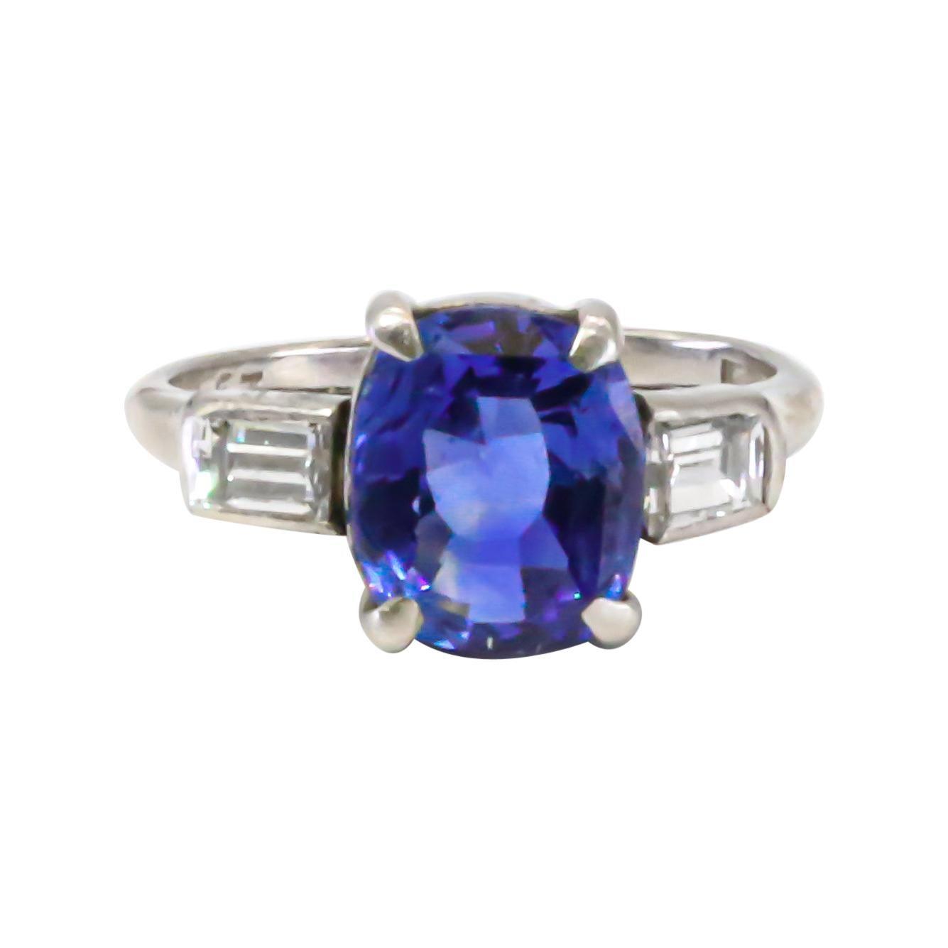GIA Certified No Heat Sapphire Ring