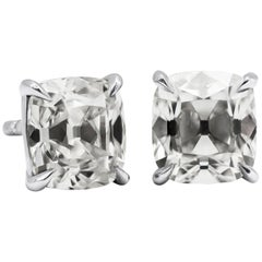 GIA Certified Old Mine Brilliant Diamond Stud Earrings