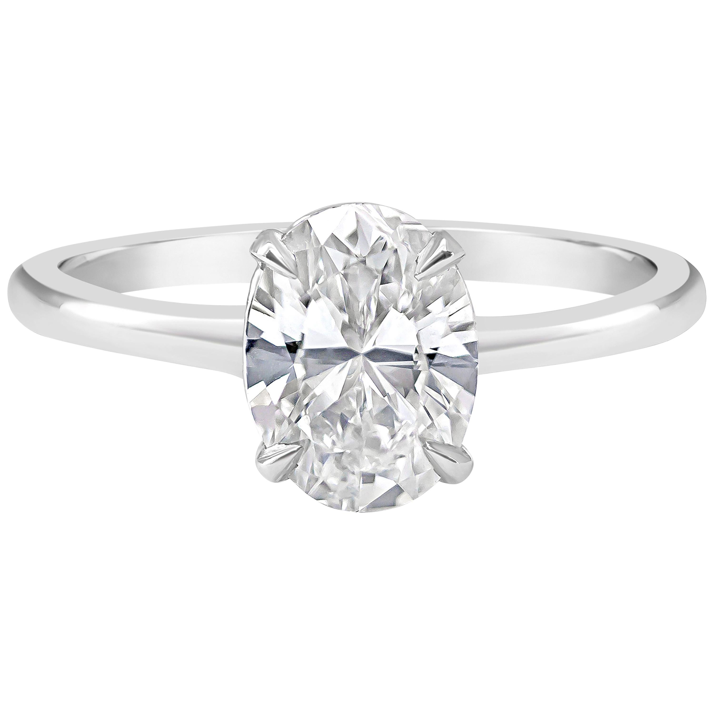Roman Malakov, GIA Certified Oval Cut Diamond Solitaire Engagement Ring