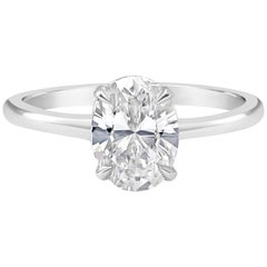 GIA Certified Oval Cut Diamond Solitaire Engagement Ring
