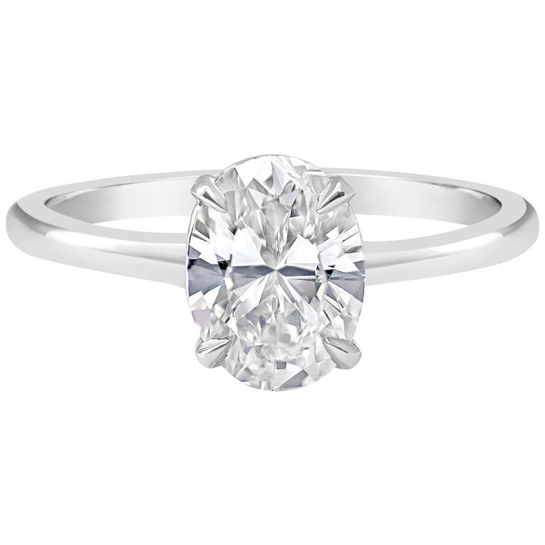 Engagement Rings On Sale Newcastle: GIA Certified Oval Cut Diamond Solitaire Engagement Ring